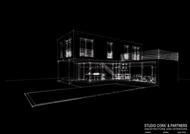 Villa con piscina studio cor partners architetto - Progetto villa con piscina ...