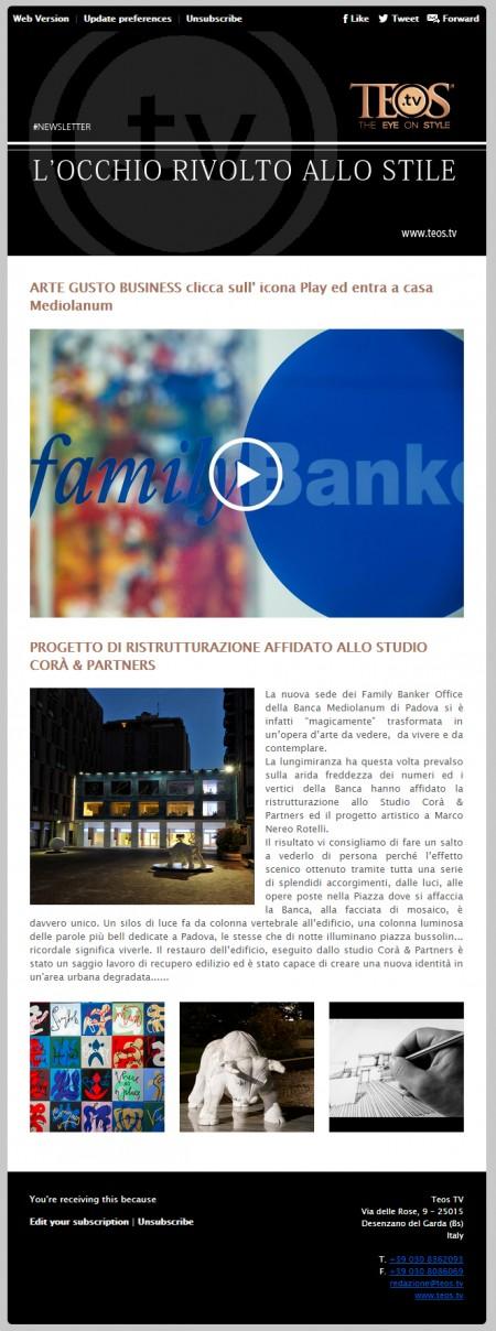 Teos Tv Newsletter - Studio Corà & Partners