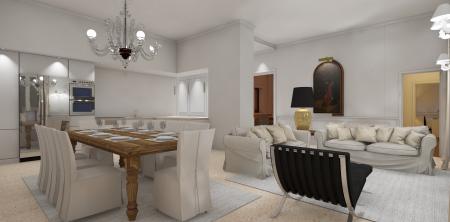 Studio di arredamento per appartamento in centro storico a Padova