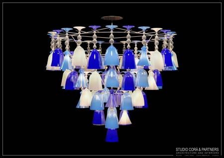 Progetto di lampadario muranese